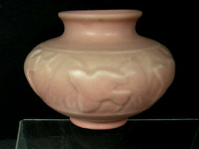 Antique Rookwood Glossy Finish Flying Doves Art Pottery Vase # 6549 Lot 167