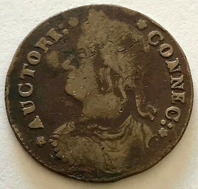 1787 Connecticut Copper Cent Bust Facing Left   #1- Free Shipping