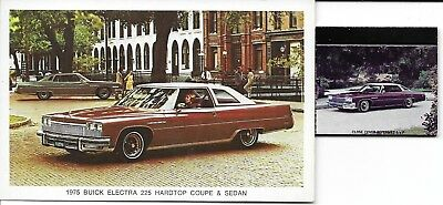 postcard 1975 Buick Electra Coupe-Putnam CT-matching matchbook--Hagersville Ont.