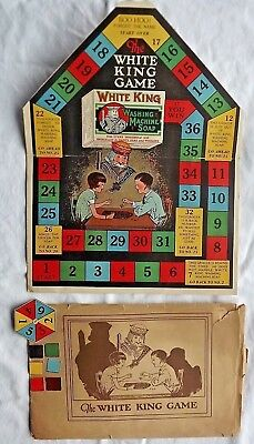 1920's WHITE KING SOAP Advertising Board  Game with Envelope and Pieces