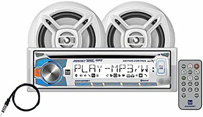 """Dual Marine Stereo CD Receiver w/ Bluetooth and a Pair of 6.5"""" Speakers"""