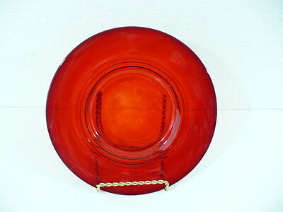 """Ruby Red 8-1/4"""" Footed Plate in Beautiful ribbed design"""
