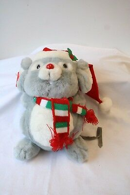 Vintage Plush Christmas Mouse Mischief Stuffed Animal by RUSS no. 7587