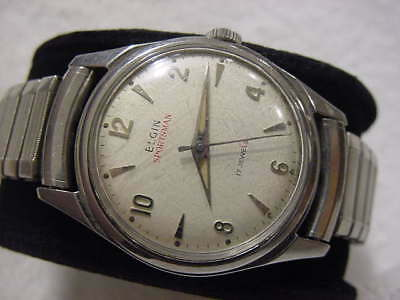 Vintage large antique Art Deco ELGIN SPORTSMAN mens watch  . NR