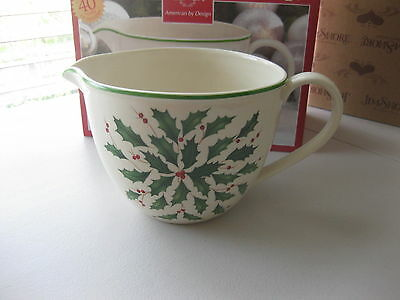 Lenox Batter Mixing Bowl Bowls with Pouring Spout Christmas Holiday Pattern $80