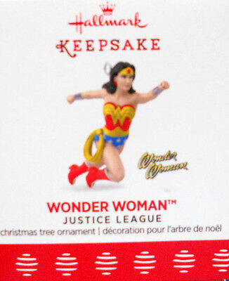 "2017 Hallmark Mini Ornament ~  ""wonder Woman"" ~ Justice League"