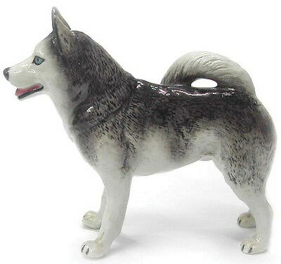 New NORTHERN ROSE Porcelain Figurine SIBERIAN HUSKY Dog Statue ALASKAN Puppy