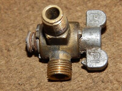 "Vintage! PI, AA, HM, Brass in-line Shut Off, Hit-Miss Gas Eng. OTHER 1/8"" MIP,"