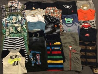 EUC Adorable Baby Boys CLOTHES LOT Outfit Sets 6 & 6-9 Months Lot # 8