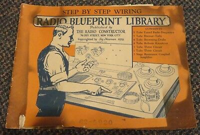 1926 Radio Blueprint Library 62-5920 booklet by The Radio Constructor