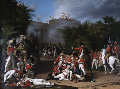 Death of Col Moorhouse Bangalore 1793 36th Foot British Empire 7x5 Inch Print