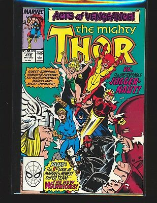 Thor # 412 - 1st full New Warriors NM- Cond.
