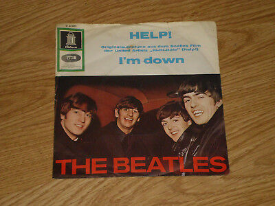 THE BEATLES Help SINGLE VINYL 7Inch 60er ODEON O23023