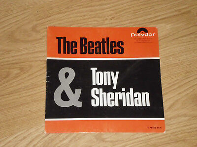 THE BEATLES & TONY SHERIDAN COVER EP 60er POLYDOR E76586 SONDERAUFLAGE RARITÄT
