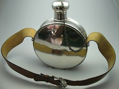Rare Large Water Bottle westernflasche Flask Made of 800 Silver