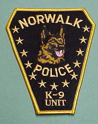 Norwalk  Connecticut  Ct  K-9 Unit  Type #1  Police Patch  Free Shipping!!!