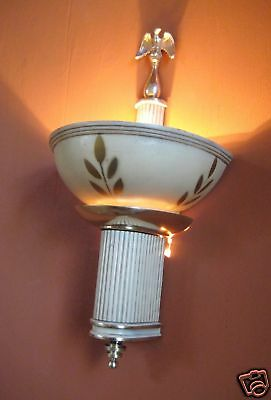 Vintage Lights pair 1930s Art Deco eagle sconces