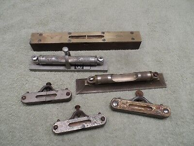 Machinist Tools: Mixed Lot of Antique Levels, Stanley #34 and Others