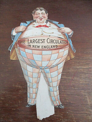 Victorian Trade Card Die Cut Paperdoll Newspaper  New England