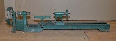 Power Kraft wood lathe turning tool # FD2002A bench top woodworking vintage 39""