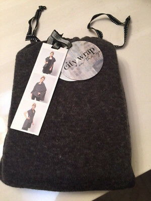 Brand New Charcoal City Wrap-One Size Fits Most- Fashion Possibilities R Endless