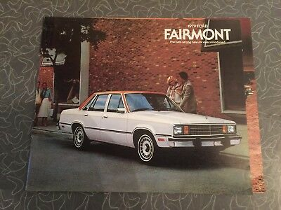 1979 Ford Fairmont Car Auto Dealership Advertising Brochure