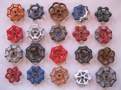 Vintage Valve Handles Steampunk Industrial Large Lot of 20 B 1