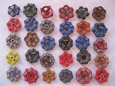 Vintage Valve Handles Steampunk Industrial Large Lot of  30 B 1