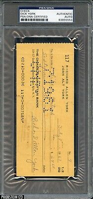 Dick York Signed 1961 Check PSA/DNA Autograph AUTO BEWITCHED