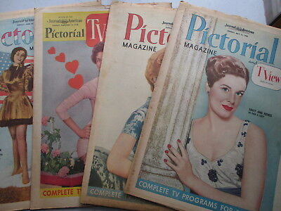 Lot of FOUR New York Journal American Pictorial & TV Sections From 1955-1959