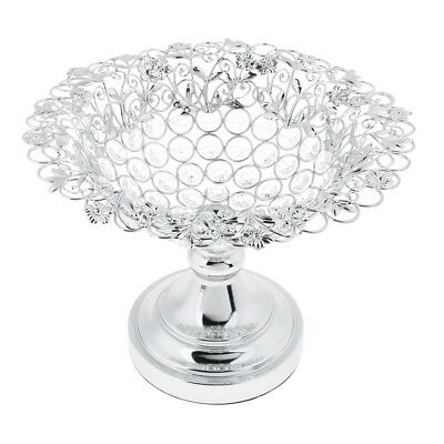 Wedding Banquet Table Centerpiece Crystal Candy Dish Food Fruit Serving Tray