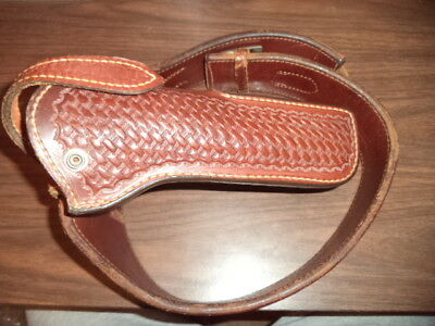 Lawrence Leather Ammo/holster #77B Belt W/ .22 Bucheimer Holster #2607W Size 32!