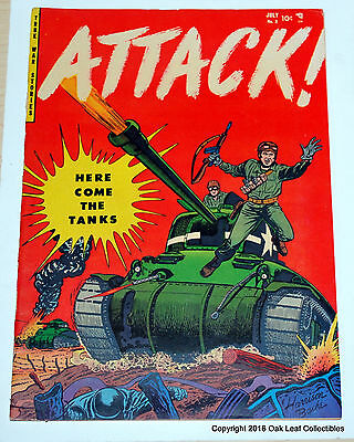 Attack! 2 - Golden Age War Comics YOUTHFUL 1952 F-VF