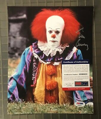 Tim Curry Signed 8x10 Pennywise It Clown Photo AUTO Autograph PSA/DNA COA
