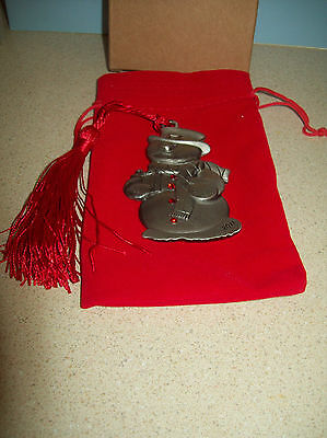 Avon Pewter Christmas Ornament 2011 with Box