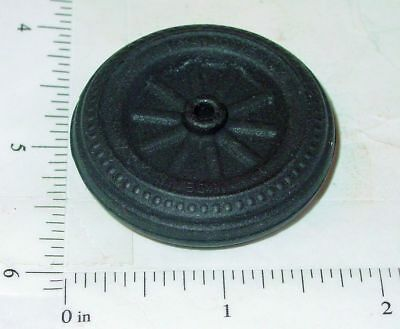 Wyandotte Black Rubber Simulated Spoke Wheel/Tire Replacement Toy Part