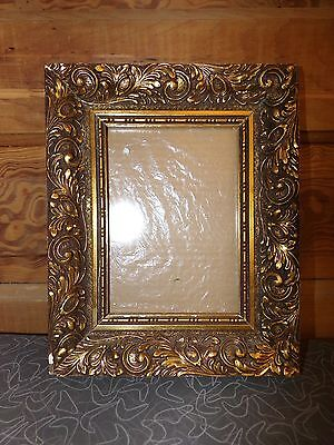 Vintage Gesso on Wood Picture Frame