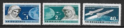 """BULGARIA - 1962.  First """"Team"""" Manned Space Flight - Set of 3, MNH"""
