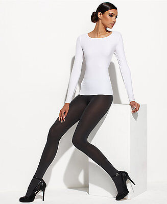 Wolford 1001 White Pure Pullover Size: Medium MSRP $150.00 New Open Box W/Defect