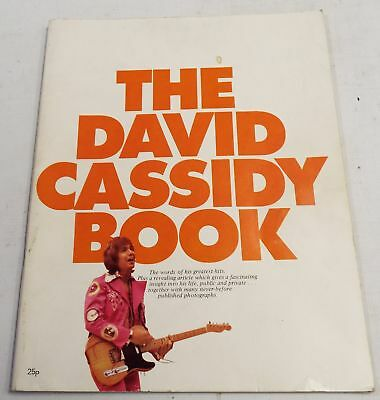 Vintage 1973 The DAVID CASSIDY BOOK Biography w/ Lyric Sheet - A08