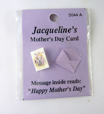Dollhouse Miniature Mother's Day Greeting Card, 5044A