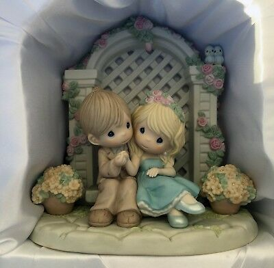 """Precious Moments """"I'm Forever by Your Side"""" Porcelain Figurine NEW in Box 910053"""