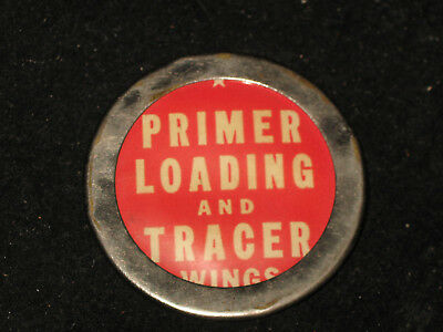 WWII US Army Air Corps Primer Loading Tracer Wings Workmans Badge