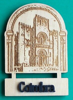 Souvenir Fridge Magnet Coimbra Old Cathedral Portugal