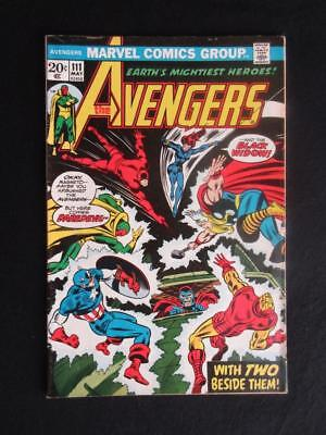 Avengers #111 MARVEL 1973 - HIGHER GRADE - X-Men, Daredevil and Magneto apps!!!