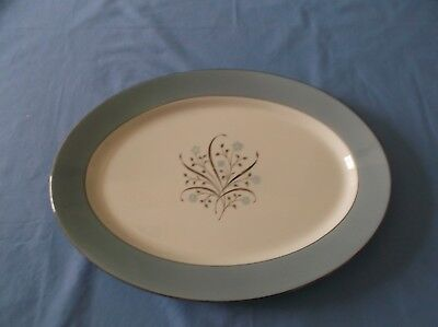 "Beautiful SYRACUSE MEADOW BREEZE LARGE OVAL PLATTER 14"" x 10 1/4"""