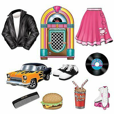 New 50s Sock Hop 1950s Rock N Roll Party Photo Booth Props Kit 20