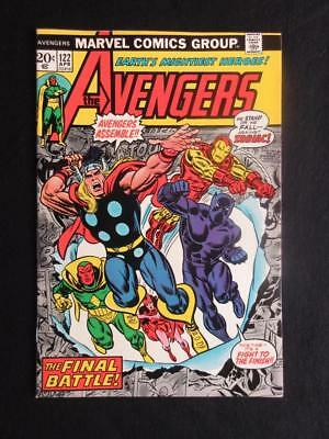 Avengers #122 MARVEL 1974 - NEAR MINT 9.4 NM - Zodiac app - Captain America!!!