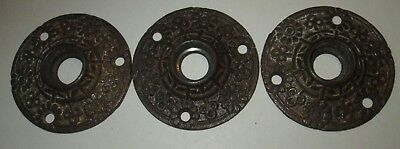 Lot Of 3 Vintage Antique Metal Rosettes Could Be Eastlake Used For Door Knobs