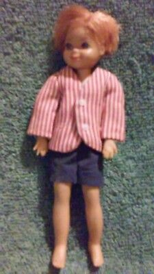 #47 - 1965 Mattel #8 6'' Rubber Bendable Doll With Clothes